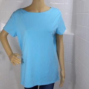 JONES NEW YORK SIGNATURE BLUE T SHIRT SIZE XL